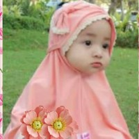 hijab bayi/jilbab anak/kerudung bayi jerey 3bln-2th/ ped pita renda
