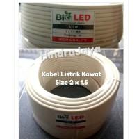 Kabel Listrik 2x1.5 Kawat / NYM Merk BioLed Panjang 50 Yard