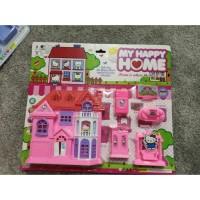 mainan anak perempuan villa rumah rumahan hello kitty - my happy home