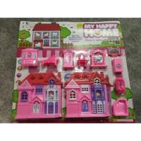mainan anak miniatur villa rumah rumahan frozen hello kitty