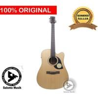 Gitar Akustik Acoustic Elektrik Electric Cetta CD22CE-NAT + Softcase