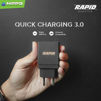 Hippo Rapid Adaptor Charger Quick Charge 3.0 Fast Charging 18W - Hitam