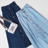 Rok jeans murah / Rok jeans panjang / Rok panjang / Rok denim