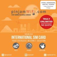 Sim Card Macau China Hong Kong Taiwan Truly Unlimited 7 days Simcard