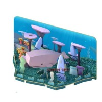 HALFTOYS Sperm Whale Ocean Series Toy Puzzle with Magnets and Dioramas