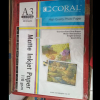 Photo paper / ink jet paper A3 110 gr Coral