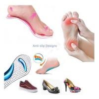 Insole Sepatu Gel Pad Foot Elastic Orthopedic Alas Kaki Silikon Sepatu