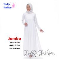 Gamis Jumbo - Baju Umroh - Baju Haji Putih dan Hitam S - 5XL - Hitam, XXL