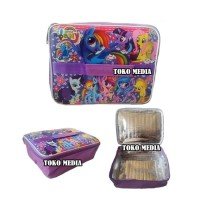 Tas Bekal Lunch Bag Anak Aluminium Foil bs Yooyee MY LITTLE PONY UNGU