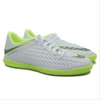 Sepatu futsal nike Hypervenom Phelon Club IC White lime Original