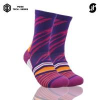 Stayhoops - Kaos Kaki Olahraga - Greau Violet Poise Tech Socks