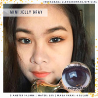 Softlens Mini Jelly By Kitty Kawaii Abu - Grey Gray