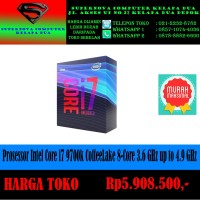 Prosessor Intel Core i7 9700k CoffeeLake 8-Core 3.6 GHz up to 4.9 GHz