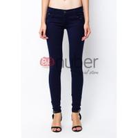 Celana Panjang Jeans Pensil Wanita Skinny Navy Hitam stretch - Dahlia