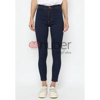 Celana Panjang Jeans Highwaist Skinny Navy Bio Mid- Petunia