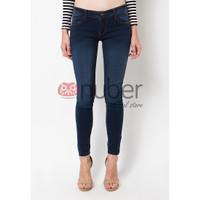 Celana Panjang Jeans Pensil Wanita Skinny Navy Green stretch - Dahlia