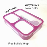 Lunch box kotak makan Yooyee 579 sekat 3 Anti tumpah Bpa free Original