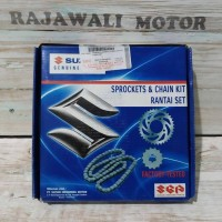 Gear Set Rantai & Gir Motor Suzuki Satria F New Original SGP