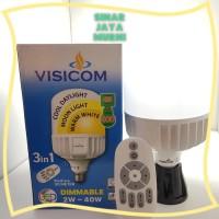 Visicom Lampu LED Bohlam 40 watt 3 warna dimm Remote