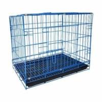 Kandang Besi Lipat Kotak Ukuran Besar Kucing Anjing Kelinci Burung