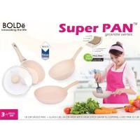Unik NA BOLDE Super Pan Granite Series 3+1 pcs Set Wok Frypan Diskon