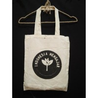 Tote Bag Blacu Custom Free Sablon 1warna uk 35x40