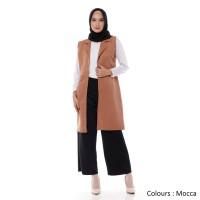 Outerwear Muslim Wanita Casual Vest Rompi Original Modern
