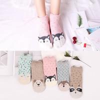 5 Pasang Kaus Kaki Wanita Korea/ Kaus Kaki Pendek / Ankle Socks xg21