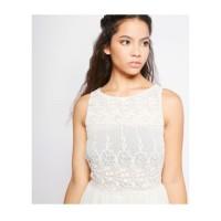 Short Dress Women Sleeveless Tanpa Lengan - Putih