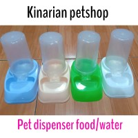 PET DISPENSER/FOOD WATER DISPENSER/TEMPAT MAKAN MINUM OTOMATIS/BOWL