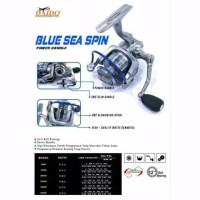 reel pancing daido blue sea spin 6000 power handle semarang