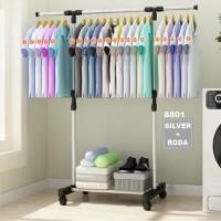 Stand Hanger - Gantungan Baju Berdiri Jemuran Baju Sepatu Tas Besi