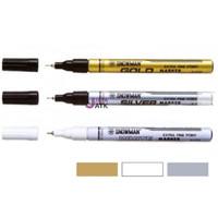 Spidol Snowman Extra Fine Marker Silver/Emas/Putih Kecil