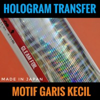 Hot Stamping Foil Motif Garis Kecil Hologram Transfer Metal Jig Lure