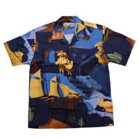 VOYEJ x Tropic Thunder x Melfri Gazza - Slowday Exploration Shirt-NAVY
