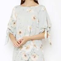 HMD Tie Sleeve Pastel floral Dress