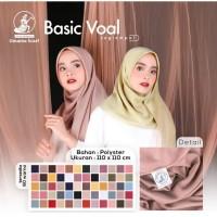 Hijab Jilbab Kerudung Segiempat Basic Voal By Umama uk 110*110