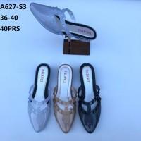 Sepatu Sandal Selop Kaca Wedges Jelly Shoes Balance A627-S3 Wanita
