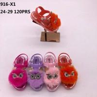 Sandal Selop Bulu Balance 916-X1 untuk Anak Perempuan