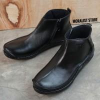 Sepatu Boot Pria Zipper Semi Formal Kulit Premium Berkualitas M981