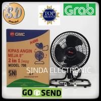 KIPAS ANGIN MEJA 8 INCH 2 IN 1 SWING GMC 706,KIPAS TORNADO GMC 706