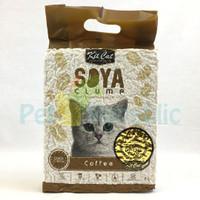 Pasir Kucing Natural KITCAT Tofu Soya Cat Litter COFFEE 7L