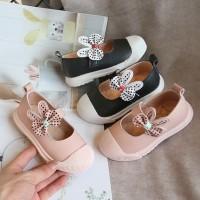 sepatu pantofel flat kets bunny pita impor korea anak perempuan murah
