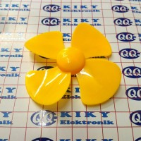 baling baling 8cm kuning / toy fan blade 80mm yellow / propeller 80 mm