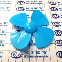 baling baling 8cm biru / toy fan blade 80mm blue / propeller 80 mm