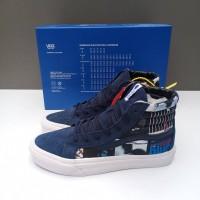 Sepatu Vans Sk8 High DQM X Blue Note Record Navy ORIGINAL Sneakers