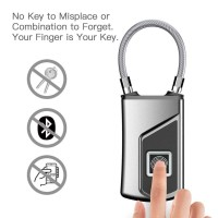 Gembok Keamanan Smart Fingerprint Lock Keyless Padlock Koper Serbaguna