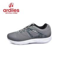 Ardiles Men Enoki Sepatu Running - Abu Putih - Abu Putih, 38