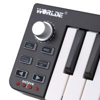 HOT Worlde Easykey USB MIDI Controller Mini untuk Keyboard 25 Key
