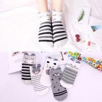 5 Pasang Kaus Kaki Wanita Korea / Kaus Kaki Pendek / Ankle Socks xg30
